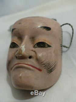 Little Theater Mask Nô Era Japanese Carved Painted Edo XIX Old No. 1