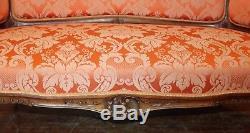 Living Room Louis XV Style Walnut Sofa Two Bergères Era Nineteenth Century