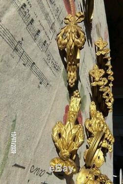Lot 29 Parts! Rings Old Curtain Period Late Nineteenth Bronze Louis XVI Node