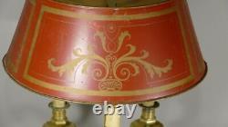 Louis XIV Bouillatte Lamp In Bronze And Painted Sheet, Era Xixth