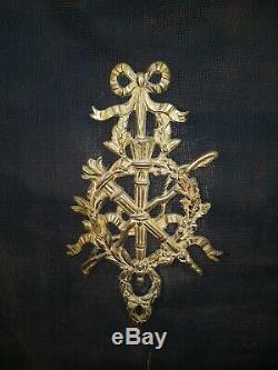 Louis XVI Firefold Bronze Brass Carquois Time Napoleon III End Xixth L 71 CM