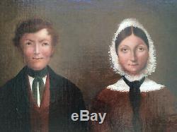 Lovely Paintings Xixth Couple Portrait Empire Restoration