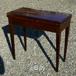 Mahogany Game Table, Restoration Period Old Nineteenth