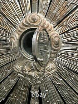 Massive Silver Ostensoir Punch Minerve Era 19th Century