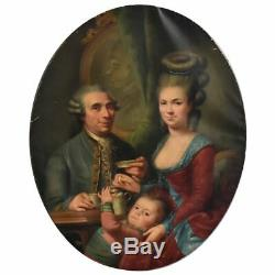 Medallion Painting Family Portrait Nineteenth Time