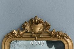 Mirror Gilded Stucco Period Louis Philippe 19th