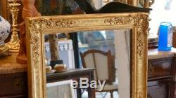Mirror In Wood And Stucco Gilded, Restoration Period, Mercury Ice, Early XIX Èm