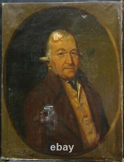Molinari Portrait Of L. Lahaye Epoque 1st Empire Pst 19th Century