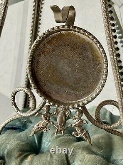 Montre-montre Box Glass Biseauté Decor Chérubins Napoleon III Period 19th