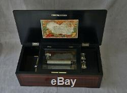 Music Box Type Cartel Six Airs Casket Wood Period End XIX Century