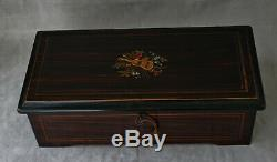 Music Box Type Cartel Six Airs Casket Wood Period End XIX Century