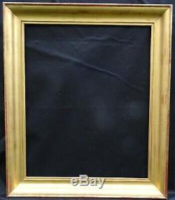 N ° 641 Frame Nineteenth Gilded Wood Leaf For Frame 61 X 74.5 CM