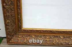 No. 398 Cadre Epoque 19th Gilded Wood For Chassis 61 X 41.5 CM