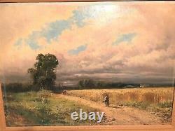Oil On Canvas Painting Signed Godchaux Era 19th Century