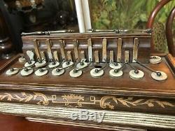 Old Accordion Romantic Inlaid Xixth Charles X Old Accordion