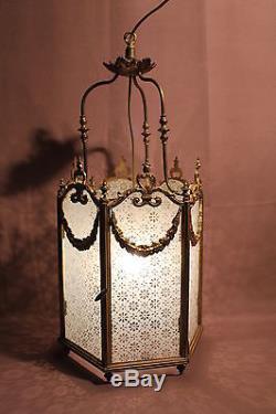 Old Brass Lantern Nineteenth Century