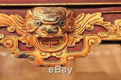 Old Console Altar Chinese Lacquered Wood Time Nineteenth Century