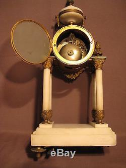 Old Gothic Style Pendulum Louis XVI Nineteenth Century