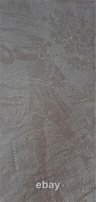 Old Linen Great Banquet Tablecloth Ancient Hunters' Motifs Of Period