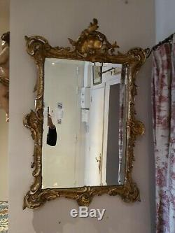 Old Mirror Magnificent Wooden Gilded Louis XV Style Xixth