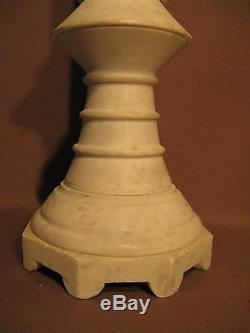 Old Pair Of Candles Pikes Marble Era Nineteenth Century