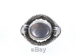 Old Signet Ring Engraved Silver Non Nineteenth Time T58