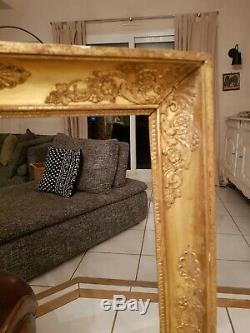 Old Time Frame Empire XIX S, Gilding, Decorated Palm Leaf
