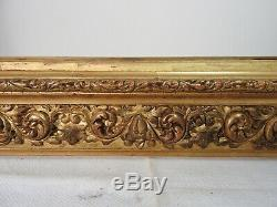 Old Wood Frame And Stucco Gilded Xixth Italian Style, Mounted Keys 1/2