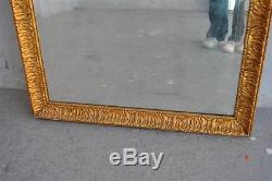 Old Wooden Mirror And Gilt Stucco Vintage Late Nineteenth
