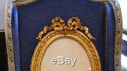 Oval Frame Louis XVI Style Wood And Stucco Gilded, Time XIX