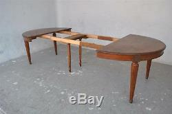 Oval Mahogany Table Scrapers On Time Sides Late Nineteenth