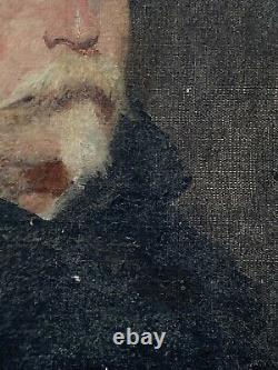 Painting Oil On Toile Portrait Of Man Period 19th Antique French Painting