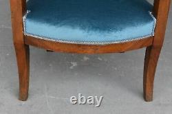 Pair Of 19th Century Walnut Restoration Armchairs