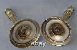 Pair Of Bronze Flambeaux From Empire Era Early 19th Century