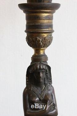 Pair Of Candelabra Empire Period Xixth Century