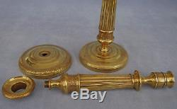 Pair Of Candlesticks In Gilt Bronze Empire Period Early Nineteenth Century