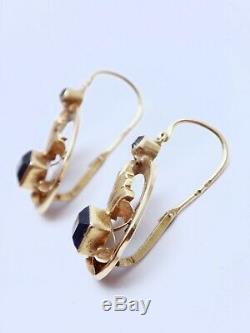 Pair Of Earrings Antique Earrings 18k Gold Nineteenth Time