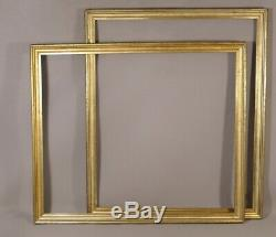 Pair Of Frames In Doucine In Golden Wood, Time XIX
