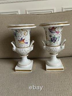 Pair Of Grand Vases Empire Period / Restoration XIX Eme Old Paris