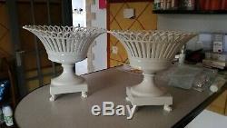 Pair Of Vase Shuttle Trash Xixth Porcelain