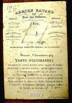 Pantograph By Adrien Gavard. 19th Century