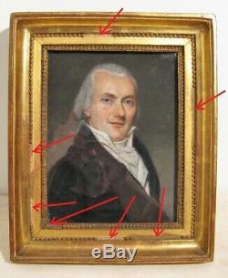 Pastel Portrait Of A Man Restoration Period Nineteenth Century