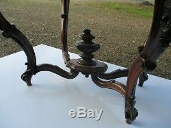 Pedestal Nineteenth Century Fiddle Rosewood Napoleon III