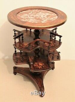 Pedestal Revolving Bookcase Rosewood Charles X Era Nineteenth Century
