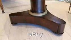 Pedestal Time Empire Mahogany And Marble, Early Nineteenth