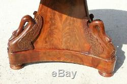 Pedestal With Swan Neck Empire Period Mahogany Early Nineteenth Century
