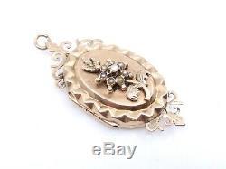 Pendant Old Photograph Has 18k Gold Beads Era XIX