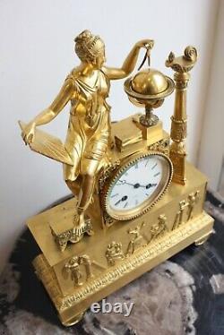 Pendule At The Astronomy Period Empire 19th Century