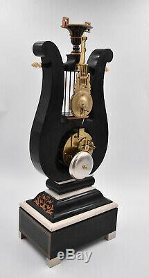 Pendulum Fork Time Charles X XIX Eme Kaminuhr Clock Clock Uhren Cartel