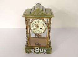 Pendulum Onyx Gilt Bronze Cloisonné Time Nineteenth